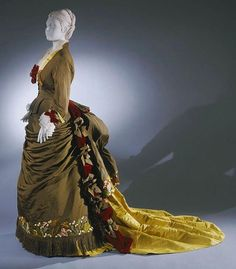 Afternoon dress by House of Worth, c. 1875