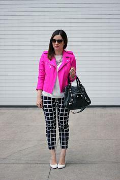 Gap_Pink_Moto_Jacket_Grid_Print_Pants