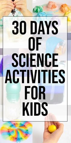 Science Experiments Kids and This 30 Day Science Activity Planner is an excellent resource for fun and easy science experiments for kids to do at home. Make sure you grab the printable science activity plan! These science activit. Kids Activities At Home, Preschool Science Activities, Science For Kids, Summer Science, Activities For 1st Graders, Educational Activities For Kids, Science Toddlers, Activities For 5 Year Olds, Nanny Activities