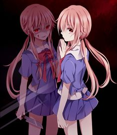 Mirai Nikki Gasai Yuno- she has got to be my favorite character and my favorite psychopath in a long time! Manga Girl, Manga Anime, Yuno Anime, Anime Art, Corpse Party, I Love Anime, Awesome Anime, Anime Cosplay, Yuno Mirai Nikki