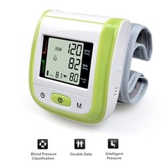 13.59$  Watch here - http://aliijg.shopchina.info/1/go.php?t=32688932765 - Health Care Automatic Digital Wrist Blood Pressure Monitor Meter Tonometer Sphygmomanometer Tensiometro Green Free Shipping  #shopstyle