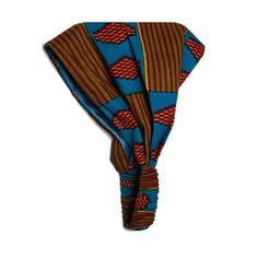Wide Satin-Lined African Print Headband (Blue Kente)   Hair Accessories for  Natural/Curly Hair