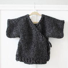 Toddler Kimono Sweater Beginner Knitting Pattern