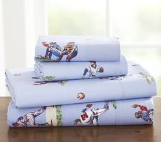I love the blue Sports Sheeting on potterybarnkids.com