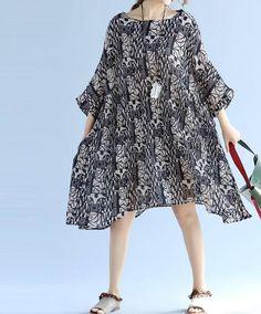 Summer oversized dress loose large size Bat sleeves Pleated
