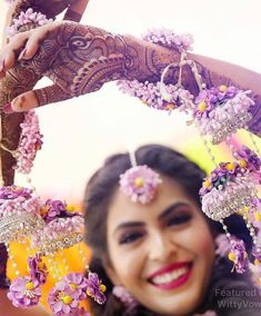 Lavender shade floral kalere Purple Wedding, Floral Wedding, Wedding Flowers, Wedding Dresses, Wedding Bells, Bridal Looks, Bridal Style, Haldi Ceremony, Bridal Photoshoot