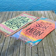 Beach Towel Blankets - Have more fun in the sun with these cute Beach Towel Blankets! Use it as a towel or blanket or wear it like a sarong! Front features a sentiment and artwork and reverse side features terry cloth.: