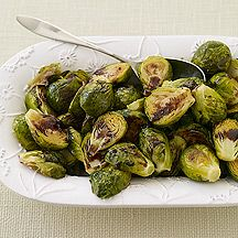 Roasted Brussels Sprouts with Maple-Balsamic Drizzle
