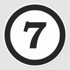 Shop adhesive I number 7 seven, to number seven Classic Round Sticker created by leiteanselmo. Colored Labels, 7 Seven, Homemade Stickers, Printable Numbers, Cell Phone Plans, Letters And Numbers, Round Stickers, Custom Stickers, Stickers