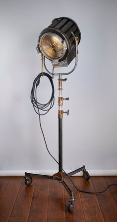 Your place to buy and sell all things handmade Industrial Lighting, Vintage Lighting, Industrial Style, Hollywood Lights, Steampunk Lamp, Film Studio, Studio Lighting, Vintage Hollywood, Man Cave