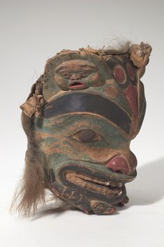Tlingit brown bear shaman mask. Pre-1890. @cargocultist