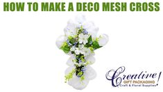 How to Make an Easter Cross Deco Mesh Wreath