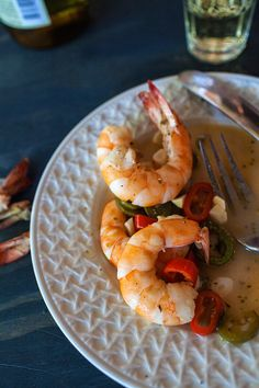 Sicilian Shrimp with Hot Peppers and Garlic in a White Wine Sauce