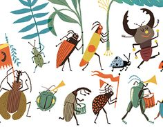 """Popatrz na ten projekt w @Behance: """"beetles"""" https://www.behance.net/gallery/30245805/beetles"""