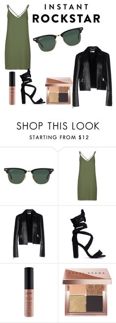 """Shades of You: Sunglass Hut Contest Entry"" by bokis ❤ liked on Polyvore featuring Ray-Ban, Topshop, Versace, NYX, Bobbi Brown Cosmetics and shadesofyou"