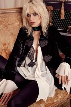 Ideas For Style Rock Chic Rocker Chick Hair Style Glam, Edgy Style, Glam Rock Style Outfits, Edgy Rocker Style, Rocker Look, Grunge Style, Inspired Outfits, Boho Style, Edgy Teen Fashion