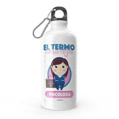 Termo - El termo del mejor psicólogo, encuentra este producto en nuestra tienda online y personalízalo con un nombre. Water Bottle, Stamp, Drinks, Ideas, Personalized Cups, Carton Box, Letters, Bottles, Store