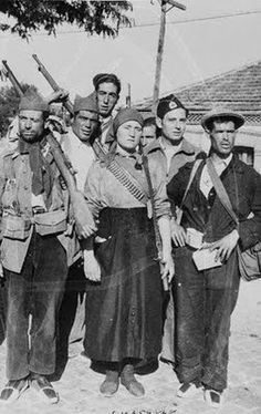 Guerra Civil Española - Combatientes en el frente de Guadarrama 1936 (Spanish Civil War - Fighters in front of Guadarrama 1936)