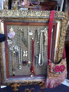 Great way to display jewelry.