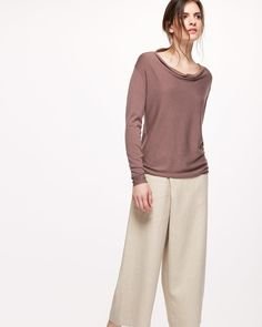 LUXURY BLEND COWL NECK SWEATER - New Arrivals