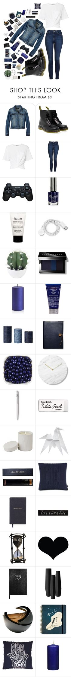 """""""// I spend too much time thinking about the past \\"""" by addicted-to-a-memory ❤ liked on Polyvore featuring prAna, Dr. Martens, T By Alexander Wang, Topshop, Sony, philosophy, FOSSIL, Dulce, Bobbi Brown Cosmetics and Crate and Barrel"""