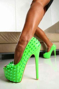 green high heels fashion shoes heels image 5 http://www.womans-heaven.com/green-heels-6/