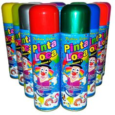 Tinta Spray para Cabelo - Várias Cores