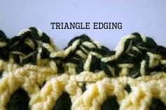 Triangle Crochet Edging - Free Pattern and Video Tutorial ❥Teresa Restegui http://www.pinterest.com/teretegui/❥