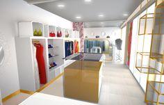 ladies boutique interiors | Mademoiselle Boutique2 Boutique Interior, Clothing Stores, Ladies Boutique, Loft, Interiors, Bed, Furniture, Home Decor, Clothing Boutiques