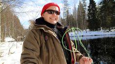 Talvi kalastus hankikorri aikaan.