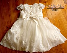 Christening Dress from Wedding Gown by WyldChicBoutique on Etsy