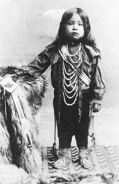 Native American boy, (c) Oregon state library: