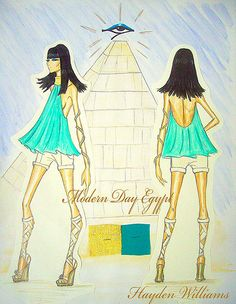 Hayden Williams Modern Day Egypt collection: Final Illustration | by Fashion_Luva