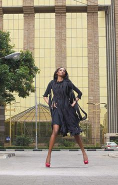 MANIA Magazine; May 2012 ~ SUPERMODEL Oluchi Onweagba wears ROMERO BRYAN AW '12 Black 'Knotted' Silk Chiffon & Wool Crepe dress. SYLIST: DIMEJI ALARA, PHOTOGRAPHER: KELECHI AMADI OBI. Special thanks to ROKSTONE ENT for product placements.