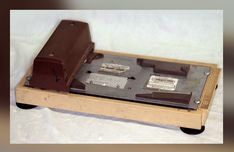 old-fashioned credit-card-processing machines