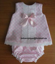 Picture: Buy by way of the web retailer allpiqueparabe … Or electronic mail todoenpique @ hotma … Little Dresses, Little Girl Dresses, Sewing For Kids, Baby Sewing, Baby Frocks Designs, Baby Dress Patterns, Doily Patterns, Clothes Patterns, My Baby Girl