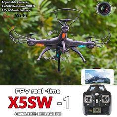 Black RTF X5SW-1 Wifi FPV 2.4Ghz 4CH RC Camera Drone with 0.3MP Quadcopter drone - http://www.midronepro.com/producto/black-rtf-x5sw-1-wifi-fpv-2-4ghz-4ch-rc-camera-drone-with-0-3mp-quadcopter-drone/