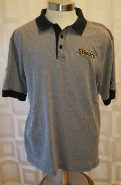 40426b740 Pittsburgh Steelers STARTER NFL PRO LINE Mens Polo Shirt Size Large in  Sports Mem