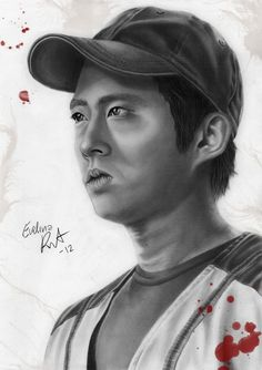 sophia walkding dead clip art | the walking dead glenn by evelinappm fan art traditional art drawings ...