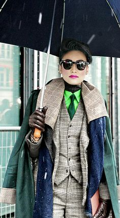 Ester Quek Street fashion/ office wear/ layers