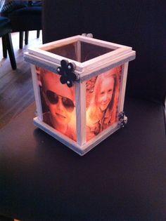 Lantaarn met foto op perkament!
