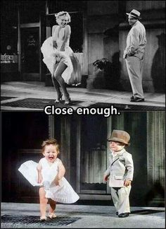 Funny imitation of Marilyn Monroe Baby Kind, Baby Love, Baby Baby, Fun Baby, Cute Kids, Cute Babies, Young Love, Norma Jeane, Pics Art