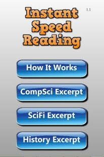 Awesome new speed reading app that will make your reading faster in 2 minutes.  I was surprised how well it worked!