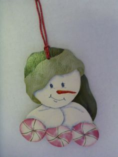 Christmas Ornament - Tole Painting, hand painted : T14 by CarolsCreations77 on Etsy