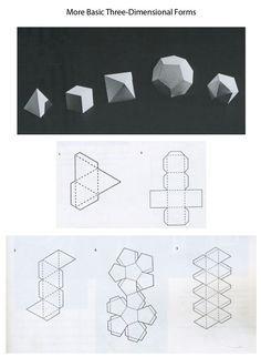 Briggs' Website - Sculpture - Print the sulpture yourself - Forms & Templates Mrs. Concrete Crafts, Concrete Art, Cement Art, Origami Paper, Diy Paper, 3d Templates, Kirigami, Paper Folding, Paper Models