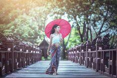 Thai Traditional Dress, Thai Dress, Baby Strollers, Children, Photography, Beautiful, Woman, Dresses, Kids