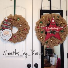 "Two sizes I have available . 17"" and 21"" Follow my Instagram wreaths_by_reneed"