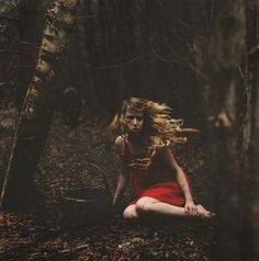 One of my favorite child-hood stories. I love the emotion and mood she catches in this photograph... The Big Bad Wolf by Lissy Elle Laricchia, via Flickr