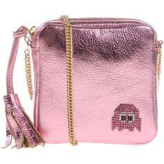 Lisa C Bijoux Cross-body Bag (205 AUD) ❤ liked on Polyvore featuring bags, handbags, light purple, tassel handbag, pink bag, pink crossbody bag, pink cross body purse and pink crossbody purse