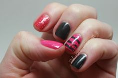 Put some Polish on It: glitter and stripes and hearts oh my